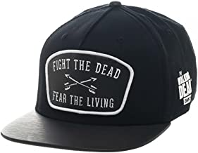 Bioworld The Walking Dead Fight The Dead Fear The Living Leather Patch Snapback Hat