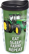Tervis 1274087 John Deere - Colossal Tractor Tumbler with Wrap and Black Lid 10ozy, Clear