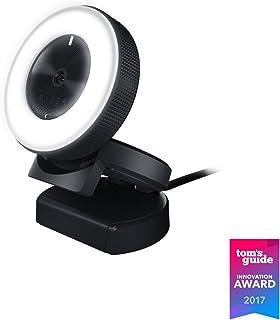 Razer RZ19-02320100-R3M1, Webcam de Streaming, 1080p, 30 FPS/720p 60 FPS, Luz de Llamada con Brillo Ajustable, Micrófono Incorporado, Enfoque Automático Avanzado, USB, Negro