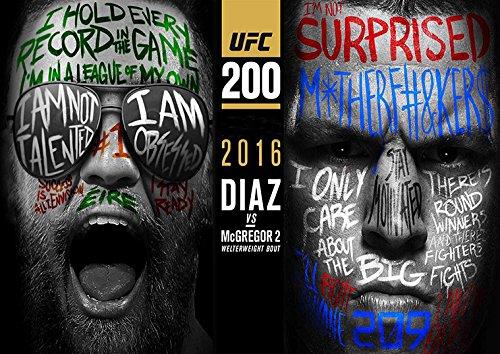 Plakat UFC Conor Mcgregor gegen Nate Diaz Wand Kunst