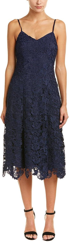 Alice & Olivia Naomi Spaghetti Strap Lace Dress, Sapphire