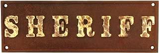 TG,LLC Cast Iron Sheriff Plaque