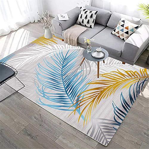 ZHAOPAI Teppich Leicht zu reinigen Warm halten Hausdekoration hochwertige gut aussehende Teppich Studie Bright Schalldämmender Teppich-160x230cm
