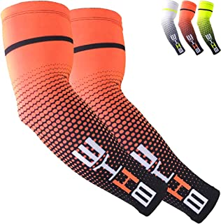 Sun Protection Cooling Compression Sleeves Arm Sleeves Men Women Sports- 1PAIR