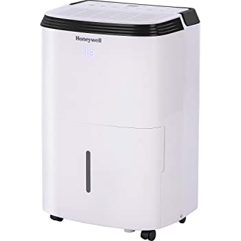 Honeywell, White TP50WK Energy Star Dehumidifier for Medium Basement & Living Room up to 3000 sq. ft with Anti-Spill Design & Filter Change Alert