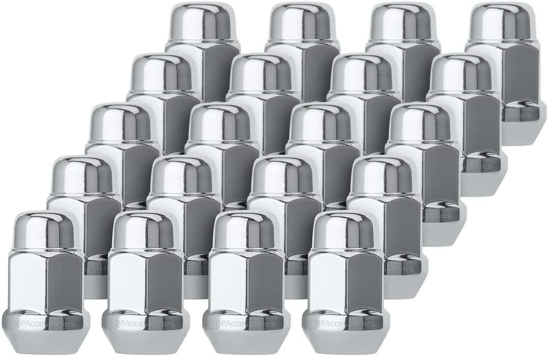 NEW before selling ☆ 20 Chrome 12x1.5 Closed End Bulge Acorn 1 - Seat New mail order Lug Cone Nuts