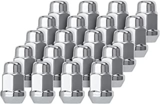 DPAccessories D3112-HT-2305/20 20 Chrome 1/2-20 Closed End Bulge Acorn Lug Nuts - Cone Seat - 3/4