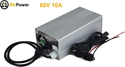 60V 10A Ebike Lithium Batteries Charger for 20S LiFePO4 Battery Pack Electric Bicycle 110v Input 73V Output