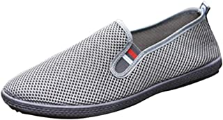 Fashion Men Mesh Casual Slip-On Shoes Twin Gusset Solid Color Breathable Driving Boat Shoes Dress Shoes Autumn Summer Spri...