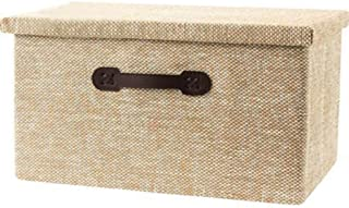 PPCP Storage Box Environmentally-Friendly Folding Large Covered Fabric Home Storage Clothes Finishing Box (Color : Beige)