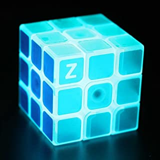Twister.CK Cool Magic Cube 3x3 Speed Cube Glow in Dark Speed Cube Brain Teasers Puzzles Toys