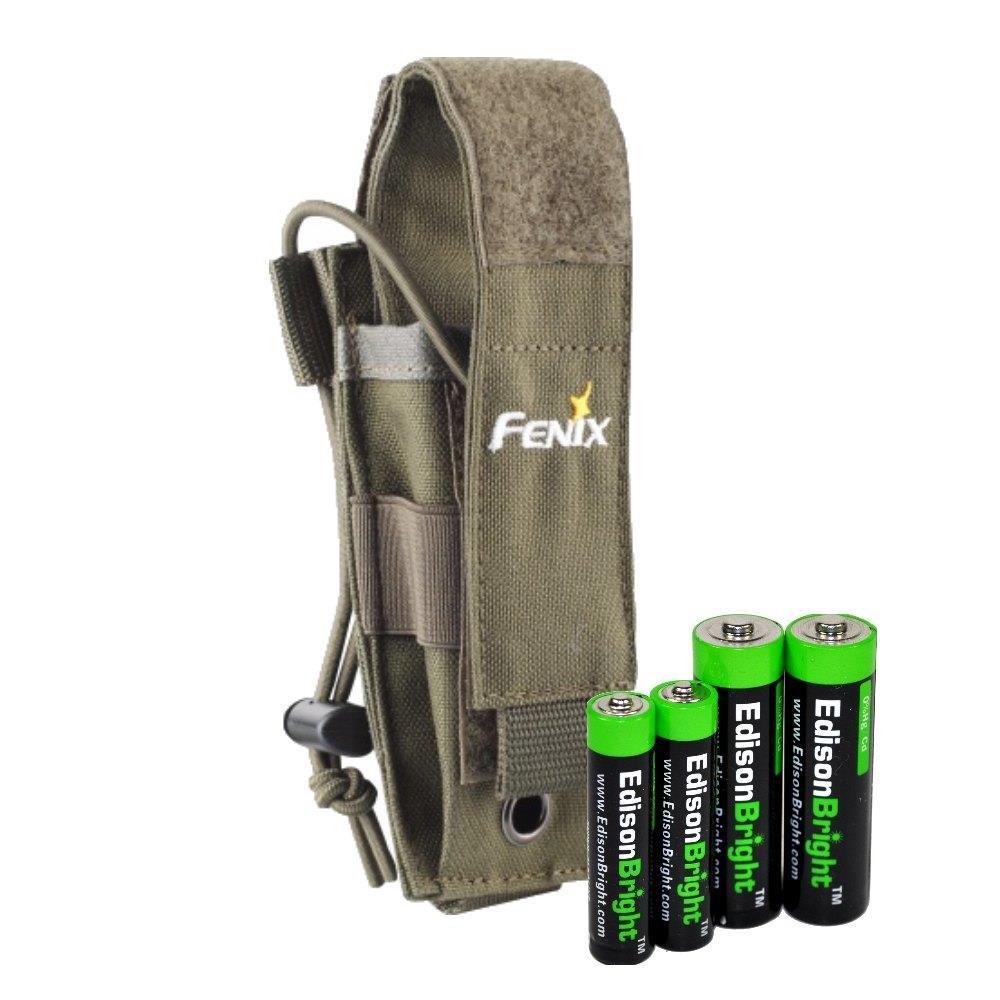 EdisonBright flashlight holster alkaline battery