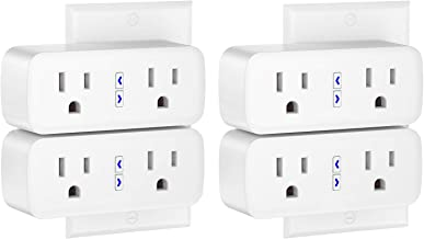 Smart Plug Works with Alexa and Google Home, Gosund Outlet Extender (Control Independently or Together), 8 Sockets, Remote...