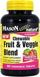 Mason Natural Fruit and Veggie Blend Chewable Tablets, 60 Count