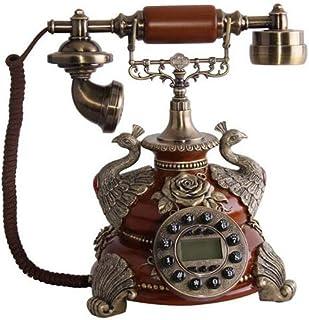 Retro Telephone Vintage Button Landline Antique Telephone Home Office Fixed Telephone