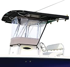 Oceansouth Universal T-TOP Enclosure, Spray Shield, Clear, Spray Curtain, for Consoles up to 27½''