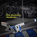 Hydraulic Handbrake Universal Ebrake Fit For Drift Track Rally Racing Emergency Parking E-Brake Adjustable Pre-Load & Pin Locations Vertical Horizontal Position With Anti-Slip Sponge Handle Blue