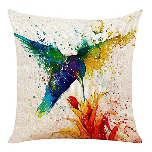 Matefield Fleur Bird Imprimé Absorption de la Transpiration Respirant Taie d'oreiller Taie d'oreiller 8