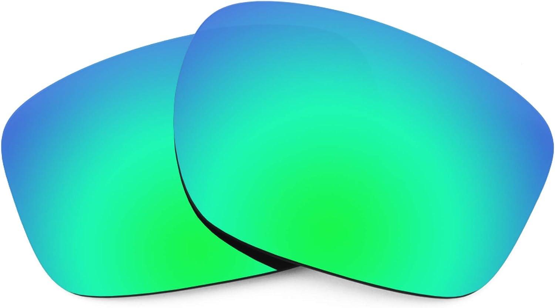 Revant Verres de Rechange pour Oakley Sliver F - Compatibles avec les Lunettes de Soleil Oakley Sliver F Vert Émeraude Mirrorshield - Polarisés Elite