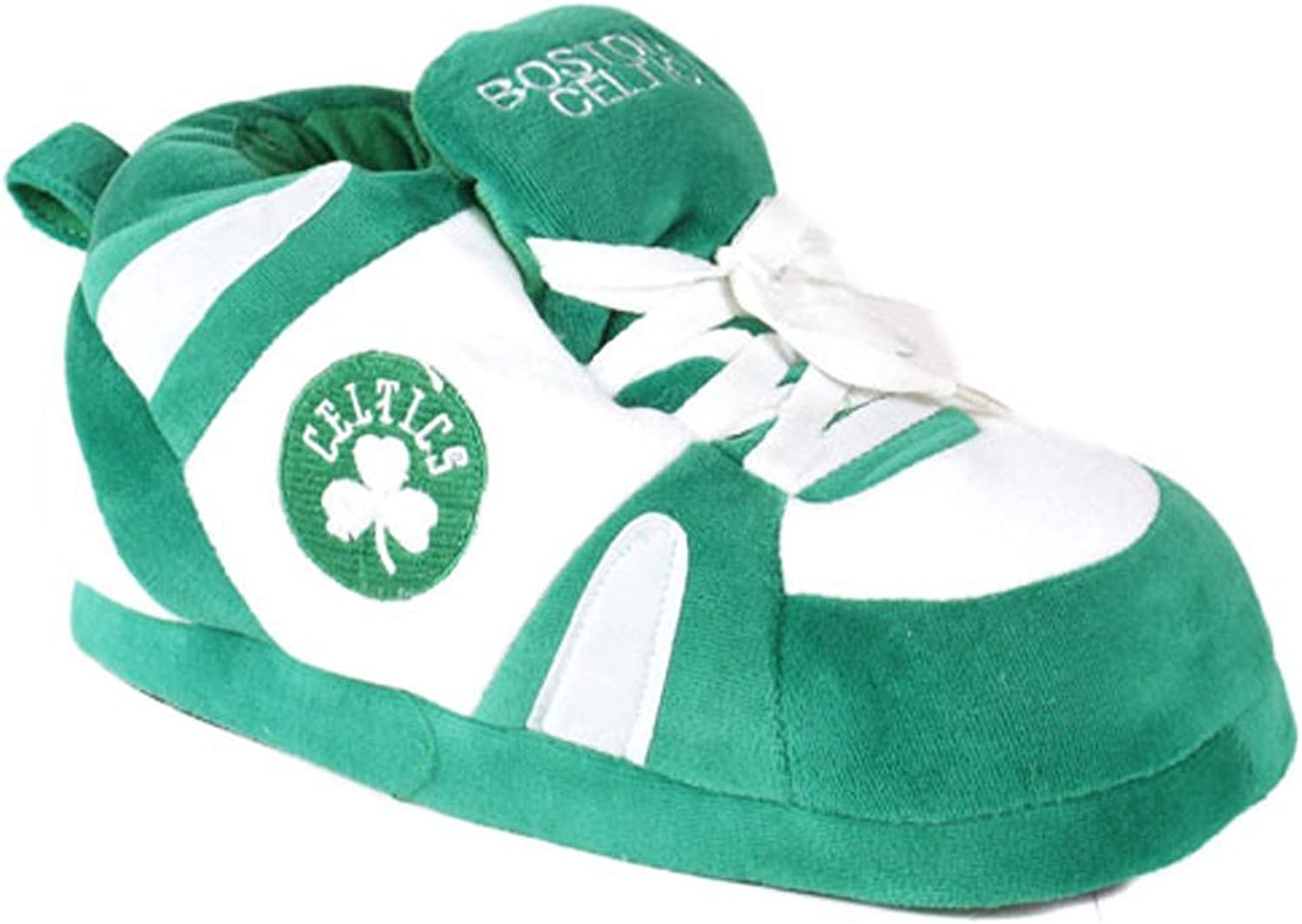 BCE013  Boston Celtics  Large  Happy Feet Mens and Womens NBA Slippers