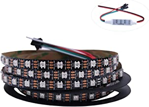 HJHX Ws2812b Led Strip 16.4ft 300LEDs Individually Addressable Led Light ,SMD5050 RGB Magic Color Flexible Rope Lights (No...