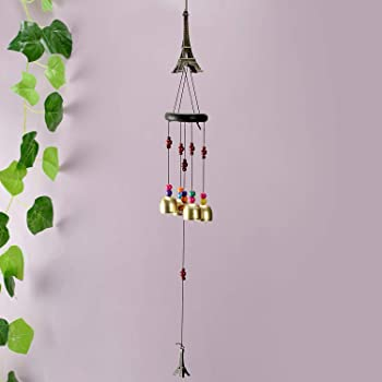 Archies® Positive Energy Metal Windchimes with Great Sound and Decorated Beads for Balcony, Garden, Living Room, Home Décor Gift (Design 1)