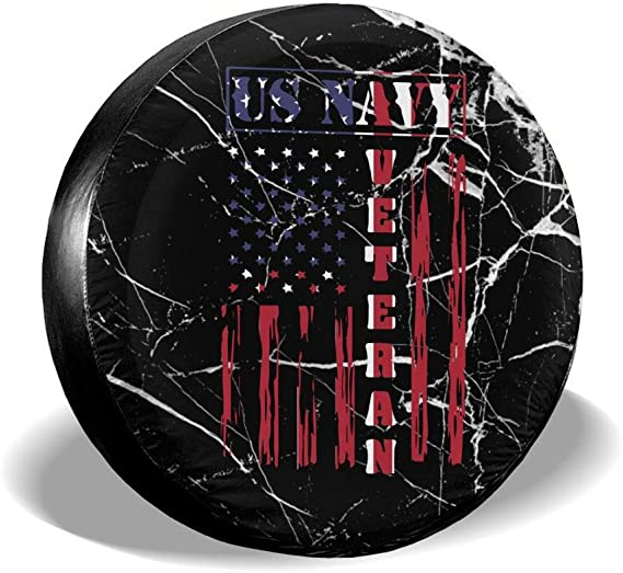 BAG9S-G Volleyball American Flag Tire Covers Car SUV Camper Travel Trailer Spare Tire Wheel Covers