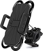 Handyhalterung Fahrrad Techole Anti-Shake Verstellbar Motorrad Handyhalter Universal 360° Drehbare Halterung mit Seitlich Kippen für Samsung, iPhone & alle 3,5-6,3 Zoll Smartphone GPS Geräte