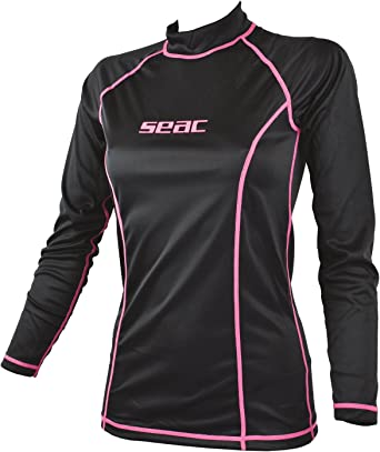 SEAC Women's T-Sun Long Lady T-Sun Long, Rash Guard for Swimming, Surfing, Diving, UV Protection