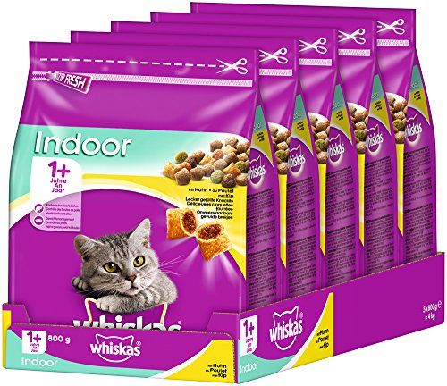 Whiskas Cat Food Dry Adult Cat Food-5 bags (5 x 800 g)