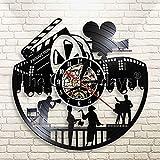 xcvbxcvb Kino Vinyl Schallplatte Wanduhr Modernes Design Film Nacht Regisseur...