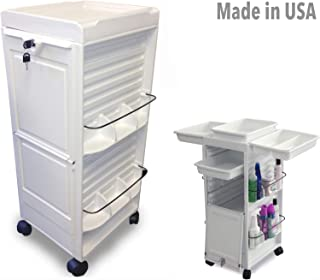 N20E-P HF Salon SPA Aesthetician Roll-About Facial Cart Trolley White Lockable Made in USA by Dina Meri