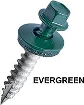 EAGLE 1: 2 Inch Metal Roofing Screws: Hex Washer Head Sheet Metal Roof Screw. Self Starting/self Tapping Metal to Wood, Sheet Metal Roofing siding Screws ~ EPDM Washer (750, Evergreen)