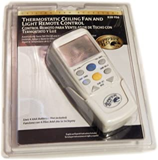 Hampton Bay Thermostatic Ceiling Fan and Light Remote Control 838-956