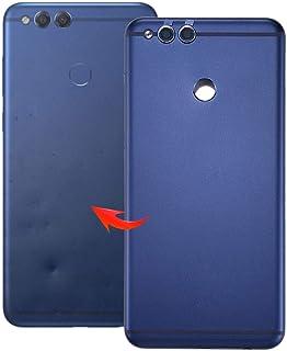 غطاء خلفي لينغلاند لهاتف هواوي اونور بلاي 7X (أسود) غطاء خلفي للهاتف الخلوي قطع التثبيت (اللون: أزرق)