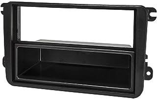 tomzz Audio 2457 005 Radioblende kompatibel mit VW Golf 5 6 V VI Plus Touran Passat 3C Caddy EOS Skoda Octavia Fabia Roomster schwarz