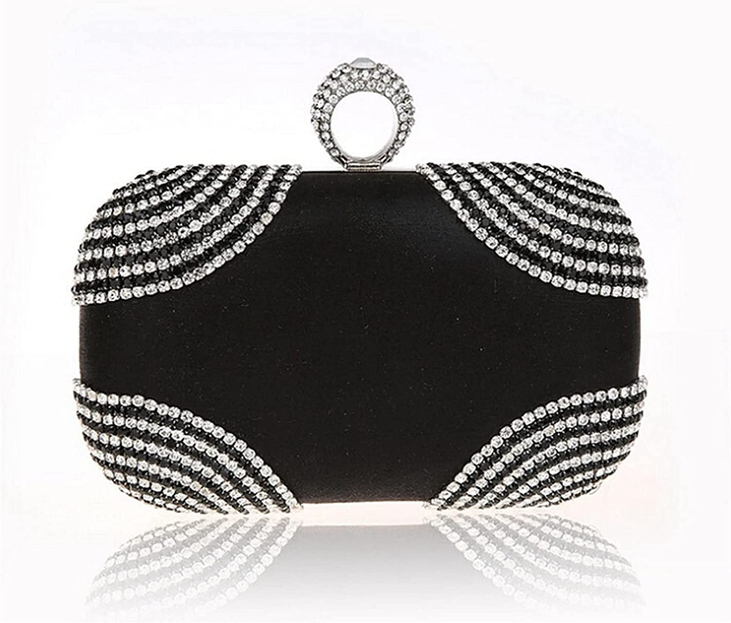 ATHH Fashionable Women Evening Bag Wedding Party Bags Diamond Rhinestone Clutches Crystal Bling Clutch Bags Purses