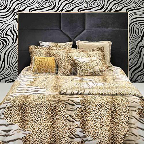 Roberto Cavalli Completo Lenzuola Matrimoniale Tiger Leopard-Leopardato
