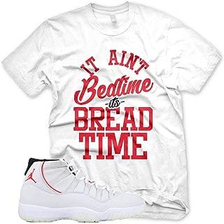 New White BREAD TIME T Shirt for Jordan XI Retro 11 Platinum Tint