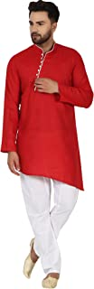 SKAVIJ Men's Cotton Kurta Pajama Set Indian Traditional Wear Dress