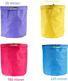 iPower 1-Gallon 4-Bag Herbal Ice Bubble Hash Bag Essence Extractor Kit Free Carrying Bag & Pressing Screen