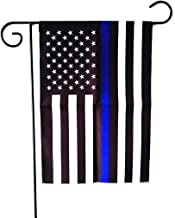 ERT Thin Blue Line Flag Garden Flag 12.5 x 18 Inch Police Flag American Flag Made by Oxford