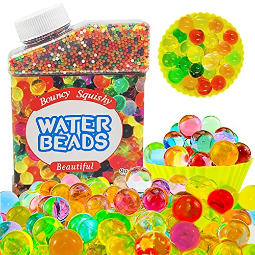 50000 PCS Bulk Water Beads, Rainbow Water Gel Beads for Kids Non Toxic, Growing Magic Water Beads, Sensory Beads for Sensory Toys, Plants, Vases, Home Decoration (1.5x2.0mm-Box)