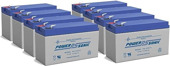 Power-Sonic 12V 7Ah Scooter Bike Battery Replaces 7ah Haijiu 6-DFM-7, 6 DFM 7 MK ES7-12 - 8 Pack