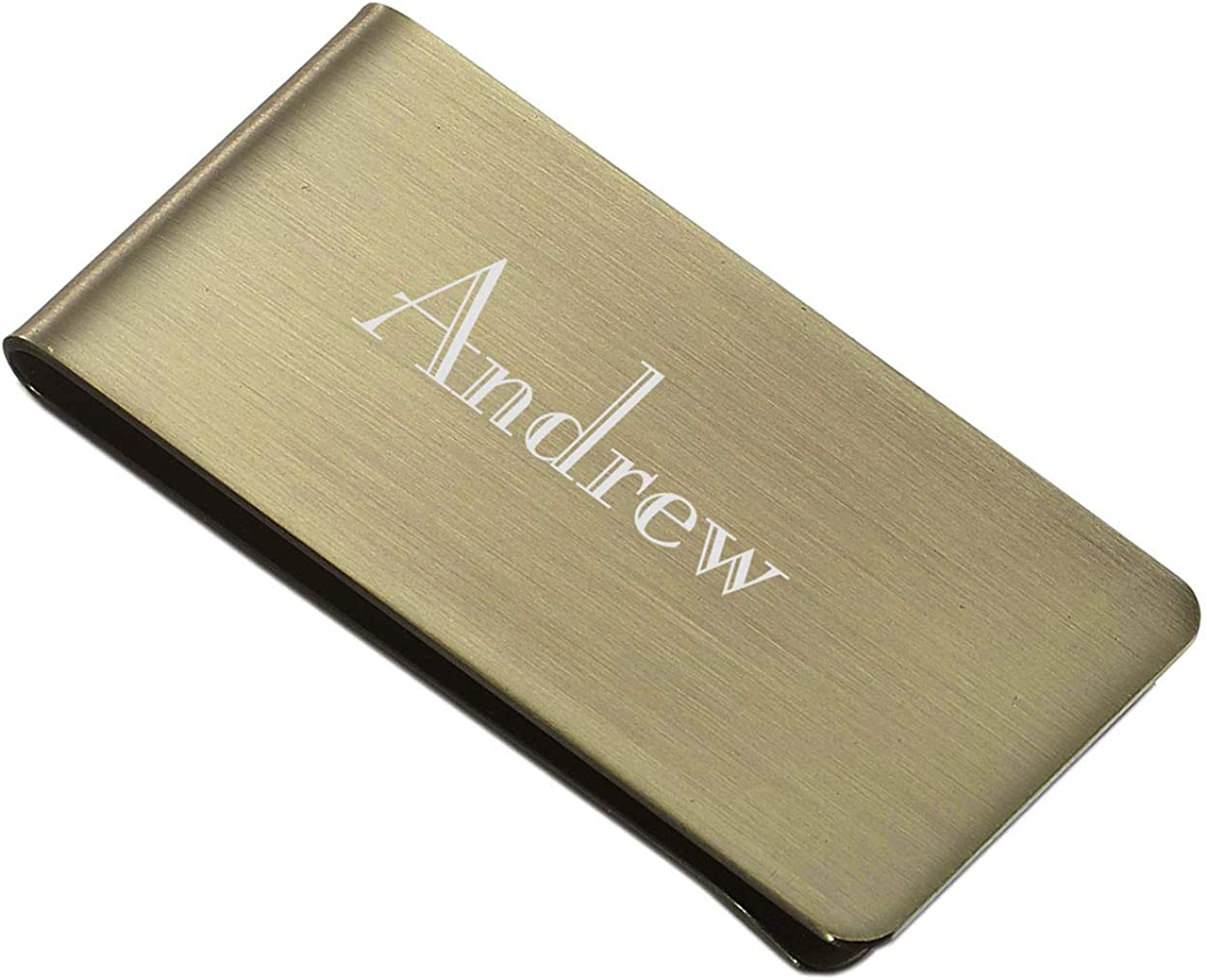 Personalized Visol Archduke Antique Brass Stainless Steel Money Clip with Free Laser Engraving