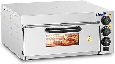 Royal Catering Four à Pizza Electrique RCPO-2000-1PE (2000W, argile réfractaire, pierre de cuisson, surface de cuisson de ...