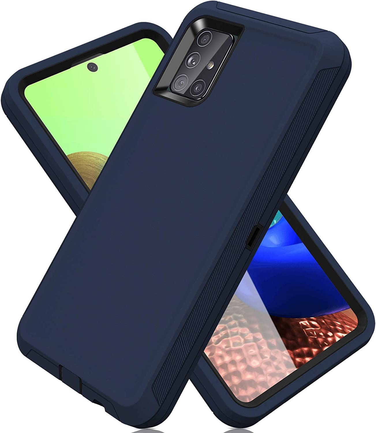 ACAGET for Samsung A71 5G Case, Galaxy A71 Case 5G Heavy Duty Protective Armor Shock-Absorbing Dual Layer Rubber TPU + PC Cover Non-Slip Bumper Phone Cases for Samsung Galaxy A71 5G Dark Blue/Black