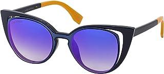 Sky Vision Cat Eye Sunglasses for Women, Yellow Lens, FF01364