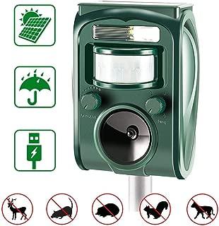 zonpor Ultrasónico Repelente de Gatos para Jardín, para Uso al Aire Libre, ristente al Agua, Animales, Ratones, Perroas, Gatos, Pájaros