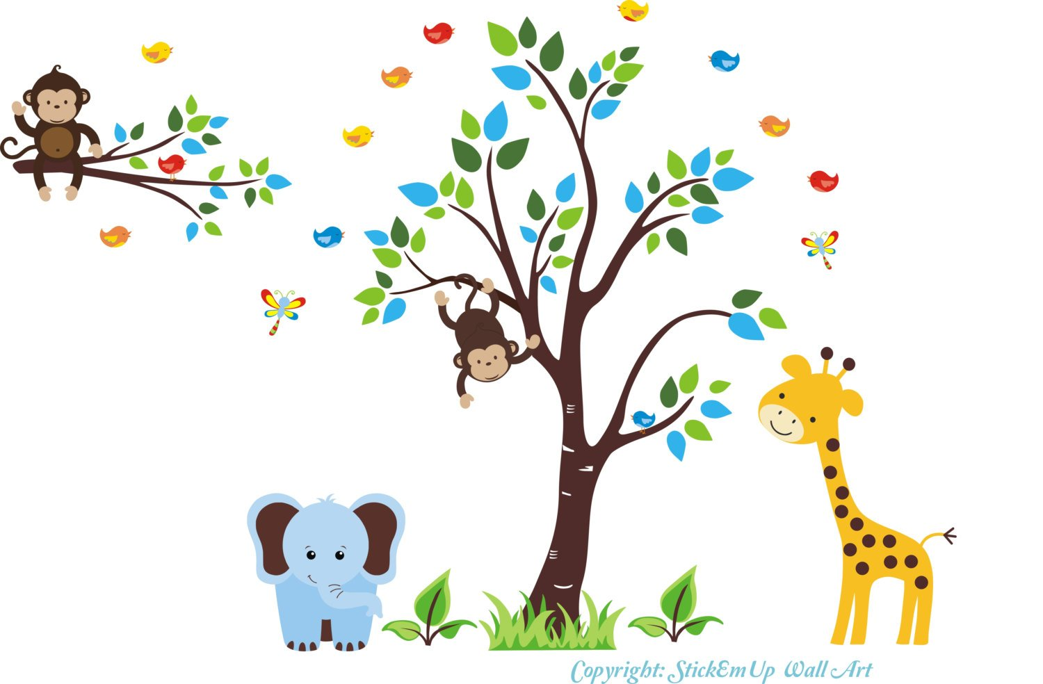Animal Special sale All items free shipping item Wall Stickers for Baby Nursery Sa Decals -
